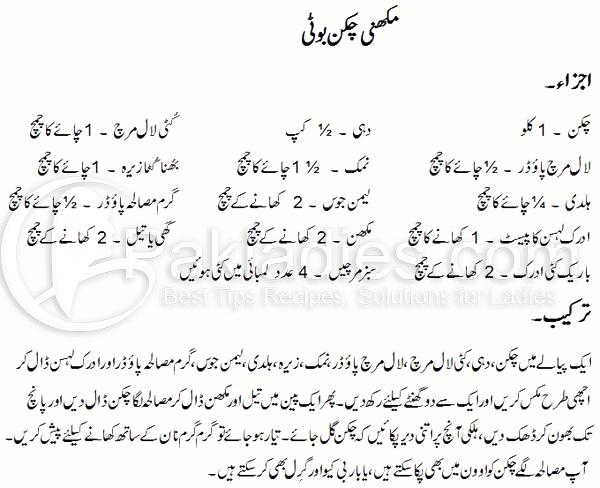 Makhani Chicken Boti Recipe