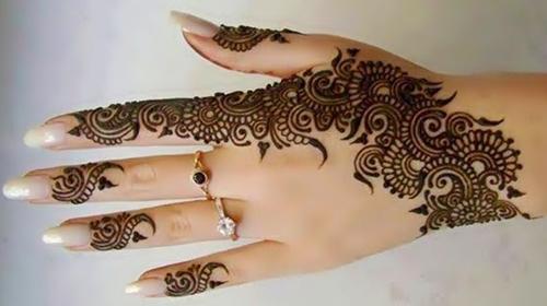 stylish mehndi designs 2014